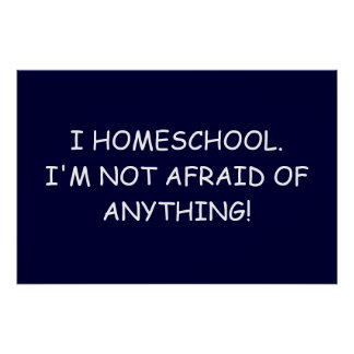 I Homeschool. I'm not afraid of anything!  Poster! Poster