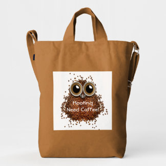 """I hooting need Coffee"" owl  BAGGU Duck Bag"