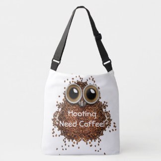 """I hooting need Coffee"" owl bean cute bag"