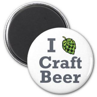 I [hop] Craft Beer 2 Inch Round Magnet