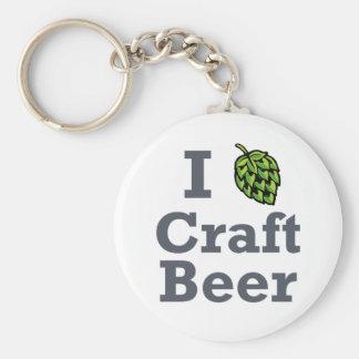 I [hop] Craft Beer Basic Round Button Keychain