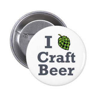 I [hop] Craft Beer Button