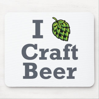 I [hop] Craft Beer Mouse Pad