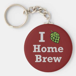 I [hop] Home Brew Basic Round Button Keychain