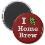 I [hop] Home Brew Fridge Magnets