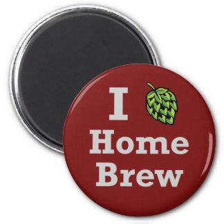 I [hop] Home Brew 2 Inch Round Magnet