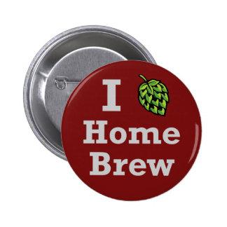 I [hop] Home Brew Pinback Button
