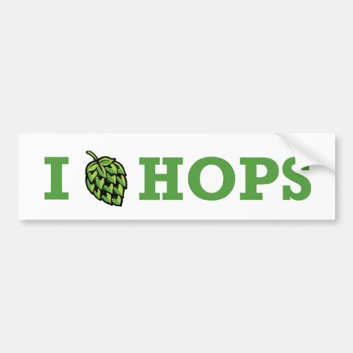 I [hop] Hops Bumper Sticker