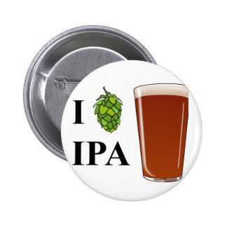 "I ""hop"" IPA design Pin"