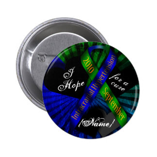 I Hope For A Cure Ribbon Button