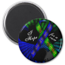 I Hope For A Cure Ribbon Magnate Magnet