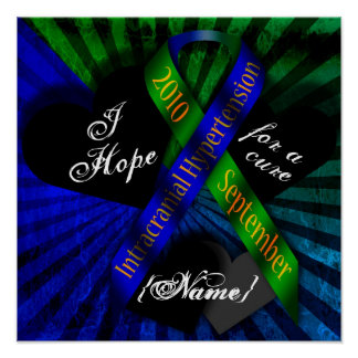 I Hope For A Cure Ribbon Poster