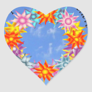 I Hope I Dream I Believe I will be CRPS RSD FREE F Heart Sticker