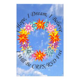 I Hope I Dream I Believe I will be CRPS RSD FREE F Stationery