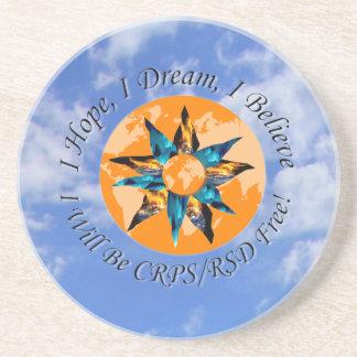 I Hope I Dream I Believe I will be CRPS RSD FREE L Beverage Coasters