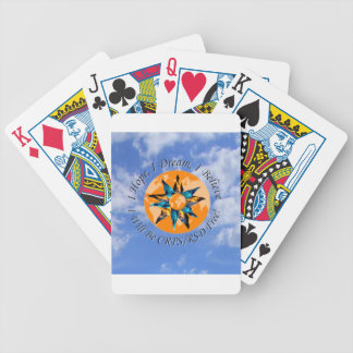I Hope I Dream I Believe I will be CRPS RSD FREE L Bicycle Playing Cards