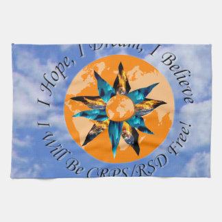 I Hope I Dream I Believe I will be CRPS RSD FREE L Kitchen Towels