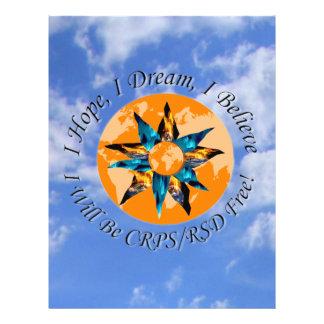 I Hope I Dream I Believe I will be CRPS RSD FREE L Letterhead