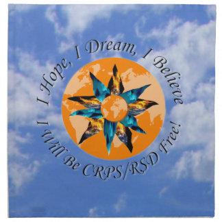 I Hope I Dream I Believe I will be CRPS RSD FREE L Napkin