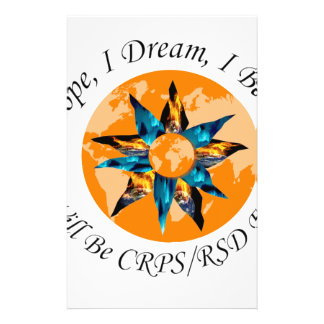 I Hope I Dream I Believe I will be CRPS RSD FREE L Stationery