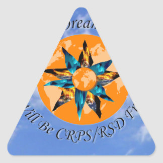 I Hope I Dream I Believe I will be CRPS RSD FREE L Triangle Sticker