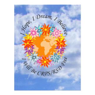 I Hope I Dream I Believe I will be CRPS RSD FREE O Letterhead
