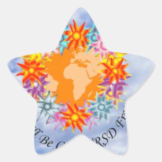 I Hope I Dream I Believe I will be CRPS RSD FREE O Star Sticker