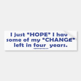 I Hope I Keep My Change Sticker