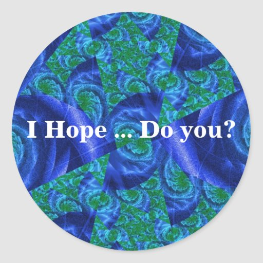 I Hope Roses Round Stickers (Sheet of 20)