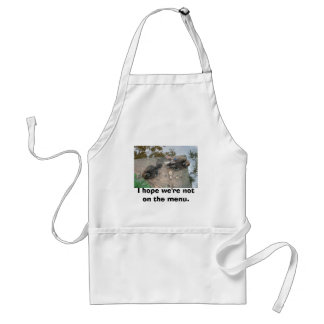 I hope we're not on the menu. adult apron