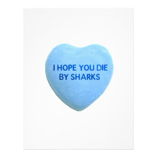 I Hope You Die By Sharks Blue Candy Heart Full Color Flyer