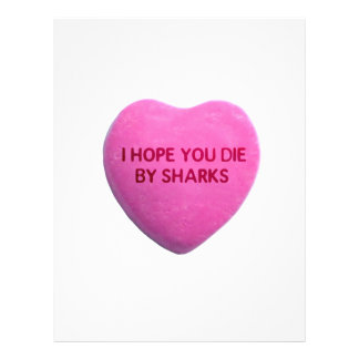 I Hope You Die By Sharks Pink Candy Heart Flyers