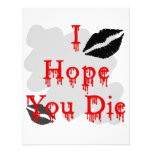 I Hope You Die Personalized Invites