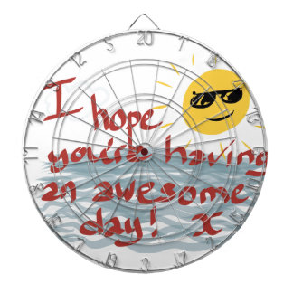 I Hope You're Having An Awesome Day Dartboards