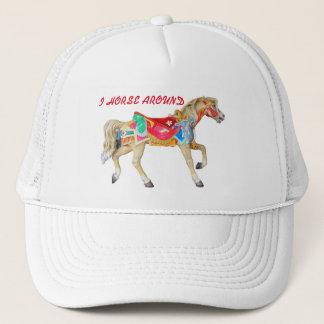 I Horse Around. Carousel Pony Trucker Hat