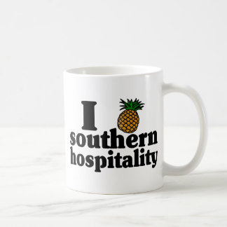I hospitalidad meridional del corazón (piña) taza de café