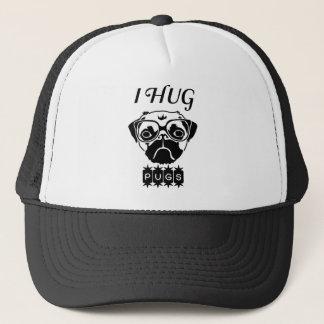i hug pugs trucker hat