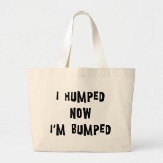 I Humped Now I'm Bumped Maternity Jumbo Tote Bag