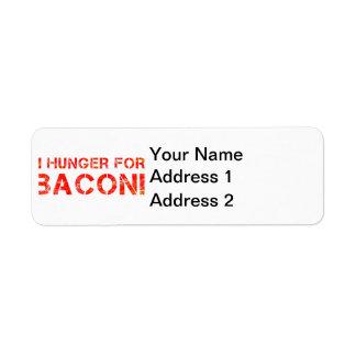 I Hunger For Bacon! Label