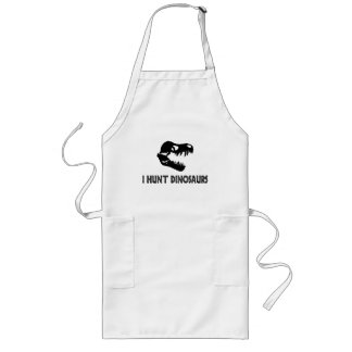 I Hunt Dinosaurs Long Apron