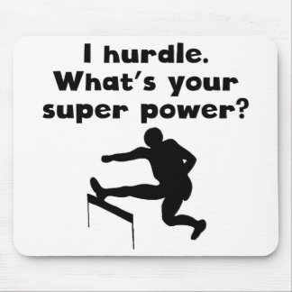 I Hurdle Super Power Mouse Pad