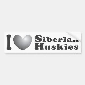 I huskyes siberianos del corazón - pegatina para e pegatina para auto