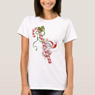 i I heart Christmas Santa Claus candy cane snowman T-Shirt