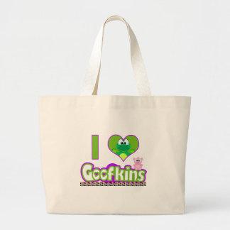 i I Love goofkins Canvas Bags