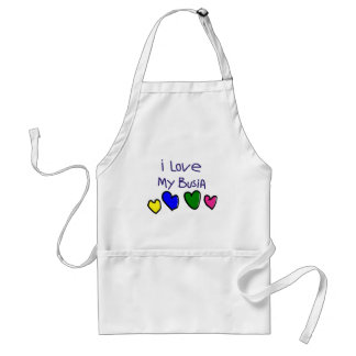 I I Love My Busia (Polish Grandma) Gift Adult Apron