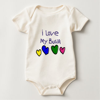 I I Love My Busia (Polish Grandma) Gift Baby Bodysuit