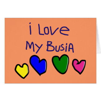 I I Love My Busia (Polish Grandma) Gift Card