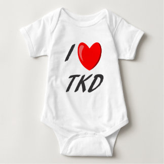 I I love TKD Baby Bodysuit