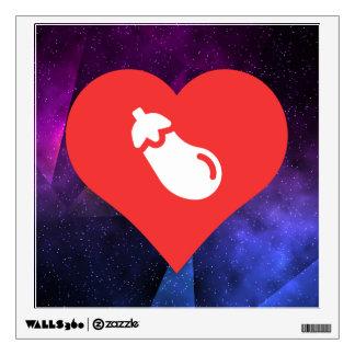 I icono de las berenjenas del corazón vinilo adhesivo