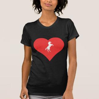 I icono de los caballos salvajes del corazón t shirts